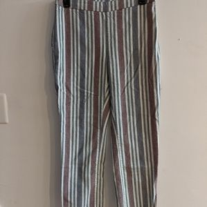Free People striped cropped pants size 4